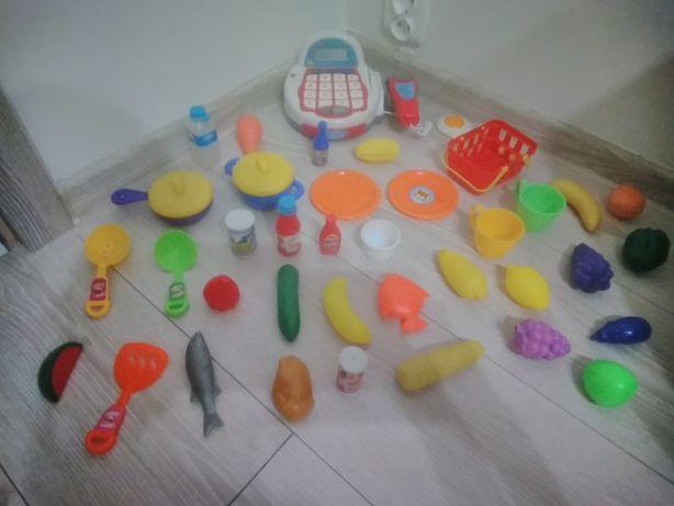 Duży zestaw kasa zabawkowa + akcesoria