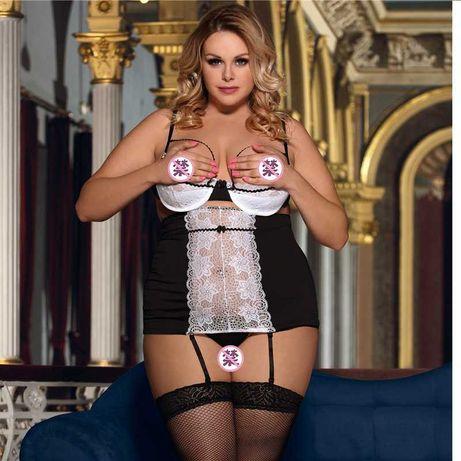Сексуальный комплект большого размера, Эротическое белье XXL, 3XL-4XL