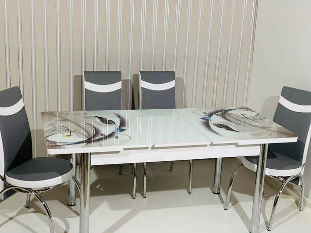Стіл, стол, столи, столы раскладные и 4 стула, кухонный комплект