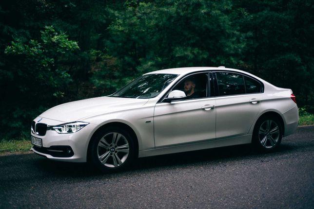 Samochód na wesele / Auto do ślubu / Białe BMW 320d F30 (S-Line)