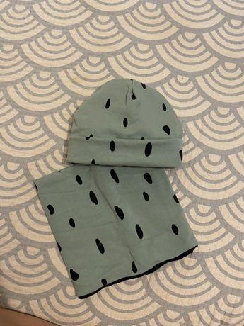 Теплая шапочка и снуд (30-34см)