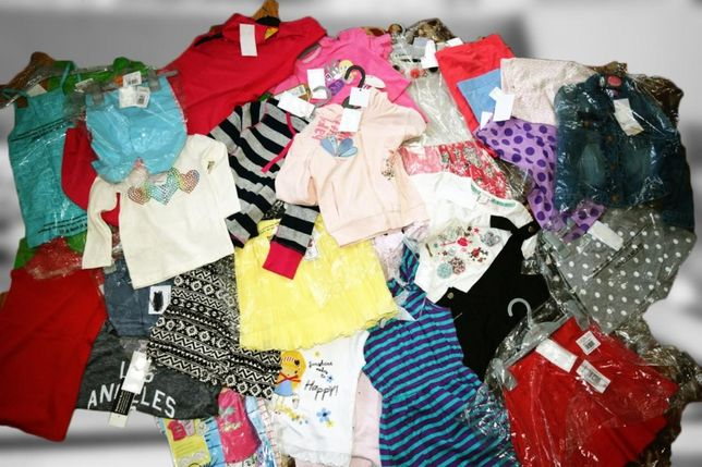 outlet hurt 100% metki odzież dziecięca mix odzież używana 20 szt-299
