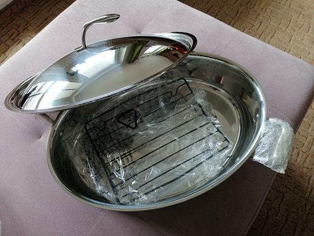 Kolekcja szefa kuchni Tupperware brytfanna przykrywka stał nierdzewna