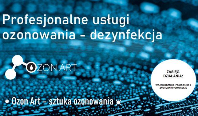 Ozonowanie - dezynfekcja pomieszczeń, obiektów oraz pojazdów - faktura