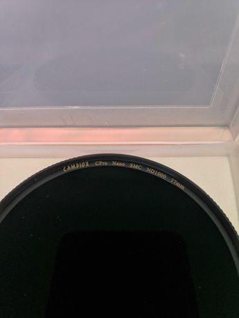 "Filtro Fotografia Densidade Neutra ND 77mm ND1000 ""CAMDIOX CPRO"""