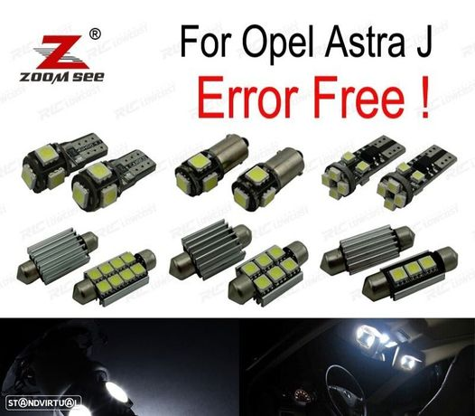 KIT COMPLETO DE 13 LÂMPADAS LED INTERIOR PARA OPEL ASTRA J OPC GTC SPORTS TOURER (09-15)
