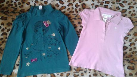 H&M Гольф-водолазка-кофта +футболка- поло девочке комплектом 5-7лет