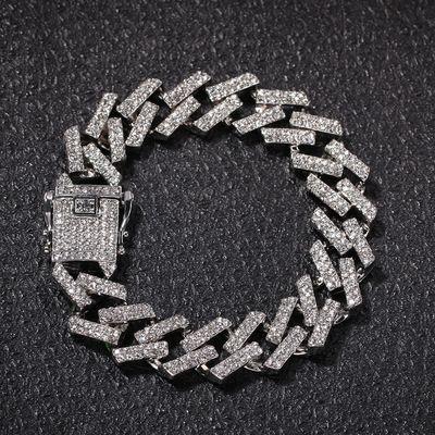 Ромбовый браслет в стиле хип-хоп 15мм. Браслет Моргенштерна.