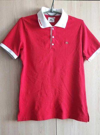 Хлопковая подростковая футболка поло lacoste