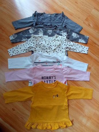 Bluzeczki dla dziewczynki rozm. 68