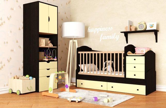 Кровать - трансформер 3 в 1! Для новорождённых и потдостка