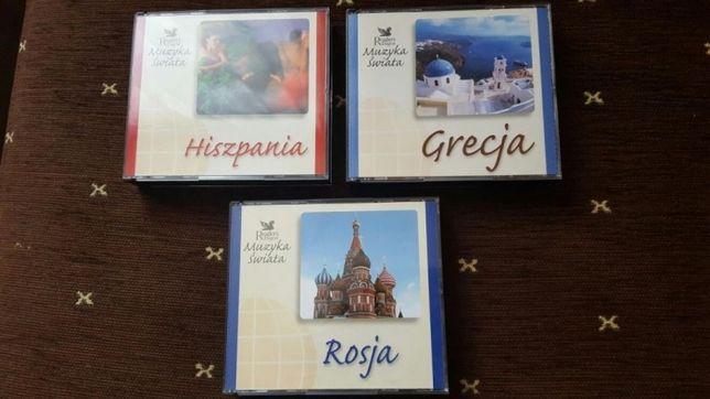 CD z muzyką HISZPANIA GRECJA ROSJA. Zestaw 3xCD 20zł