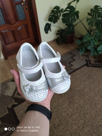 Туфельки для дівчинки 21 розмір повністю  шкіра