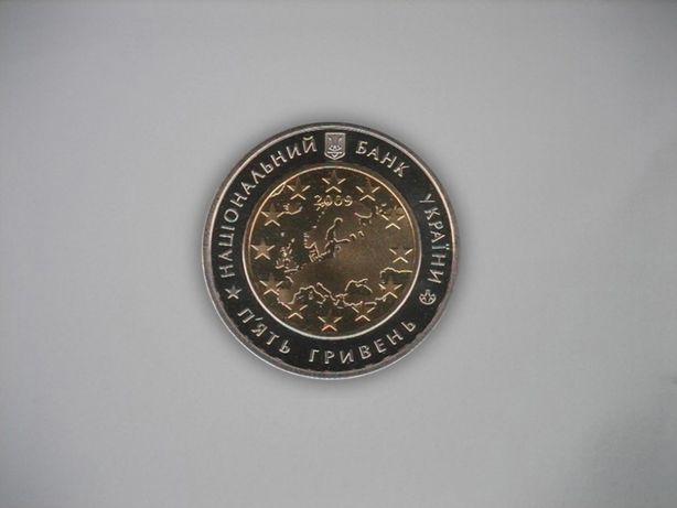 Украинская коллекционная монета 5 гривен 2009 года.