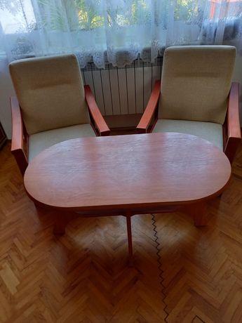 Ława+2 fotele tapicerowane
