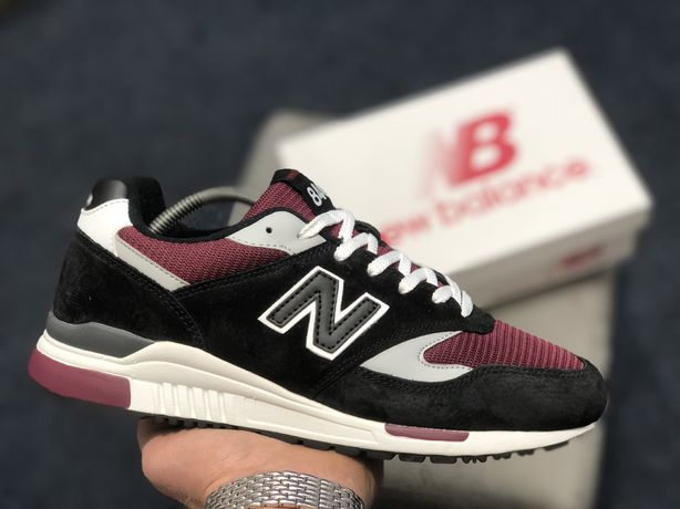 Акция!Мужские кроссовки New Balance 840 made in USA,черные с бордовым