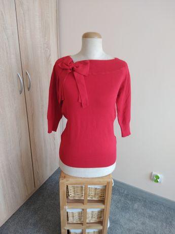 Sweterek czerwony 38 M