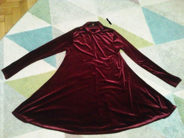 sukienka/tunika-aksamit/welur-piękny kolor 158-170cm