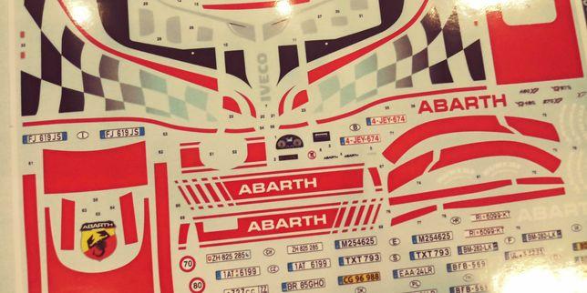 Naklejki Abarth Iveco model 1/24 1/25