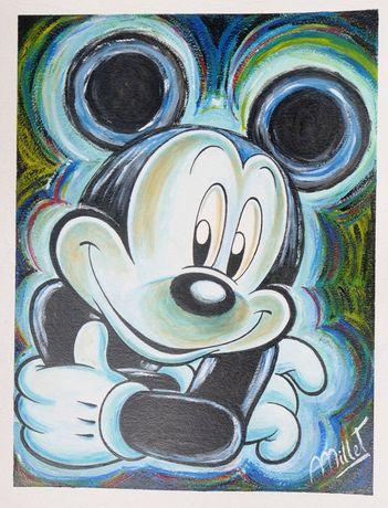Mickey - Pintura original de Millet da Disney