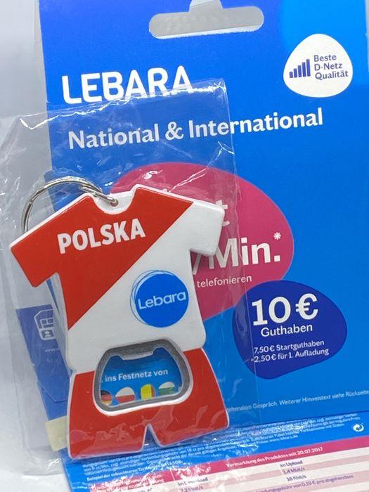 Lebara DE Starter Karta SIM Card PrePaid Niemcy na start 6€ Warszawa - image 1