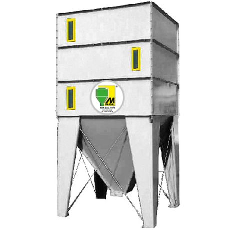 Silos składany 4t do tworzyw sztucznych granulatów dla recyklingu MROL