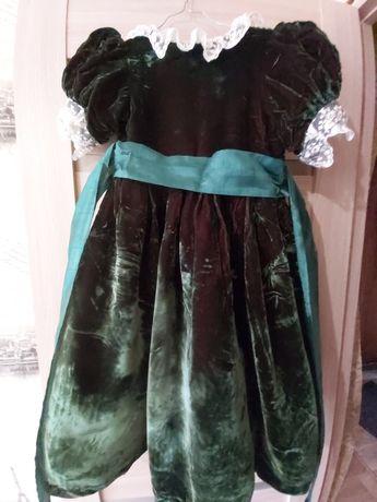 Детское платье из бархата, для девочки 5-8 лет