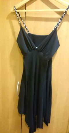 Czarna asymetryczna sukienka M/38