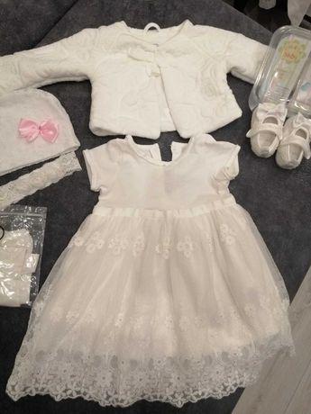 Komplet sukienka chrzest 74