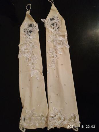 Митенки свадебные