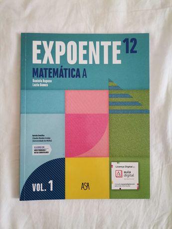 Livro Expoente 12, Matemática A, ASA, Vol.1, 12º ano.