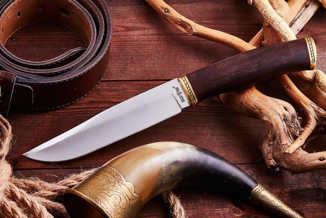 Нож 2670 ACWP охотничий с кожаными ножнами/Ніж мисливський