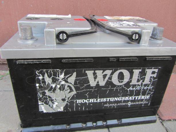 Akumulator Wolf 77Ah 780A Prawy plus 12V