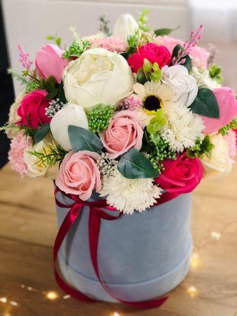 Flower box kwiaty mydlane XXL