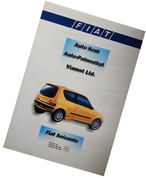 Fiat - cennik z 1998 roku Punto Uno 126 Brava Marea Ducato i inne Kraków - image 1