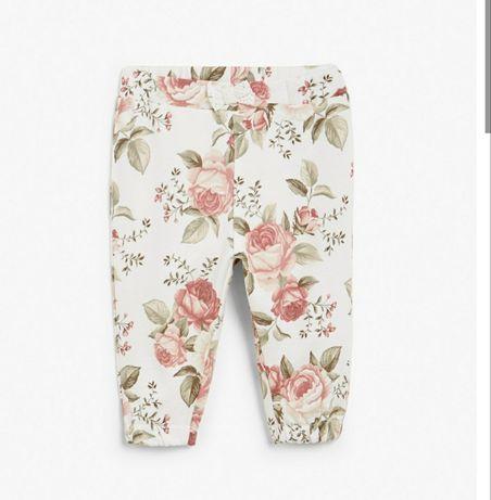 Spodnie dresowe newbie kwiaty. Bliźniaczki Rozmiar 80