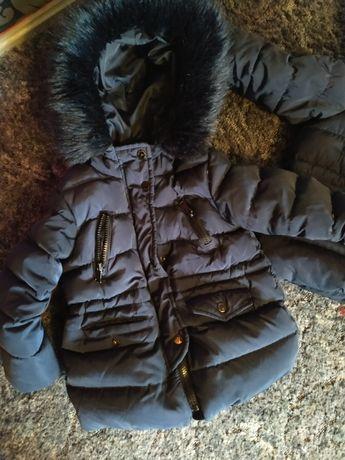 Zara kurtki kurtka dla bliźniaczek