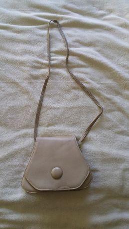 Mała beżowa torebka ze skóry naturalnej - Nowa, Super Cena!