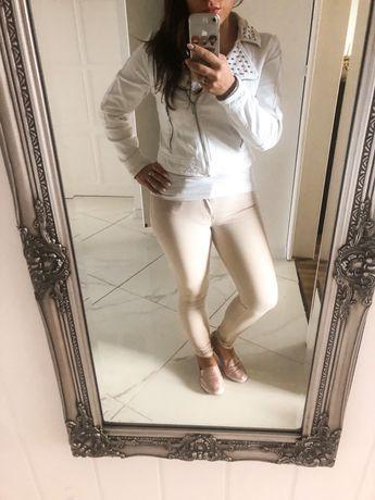 Katana dżinsowa biała z dżetami