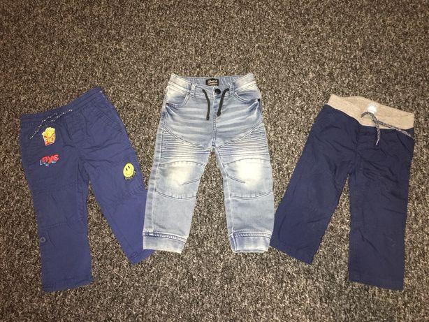 3 x spodnie firmowe GAP , DENIM 18-24m
