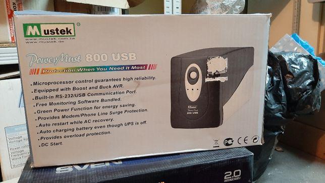 ИБП Mustek PowerMust 800 USB (источник бесперебойного питания)