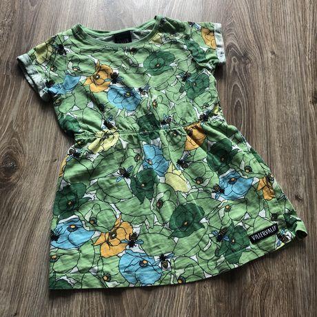 Sukienka scandi Villervalla 92 pszczoly natura