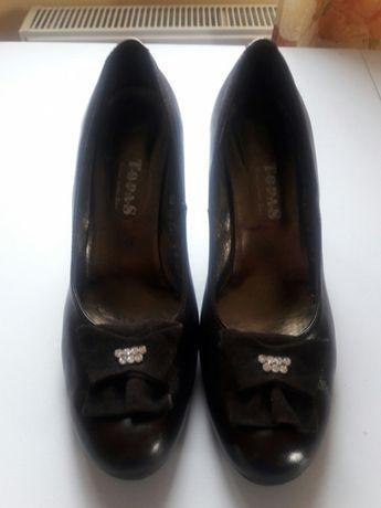 Кожаные туфли шоколадного цвета,40р.