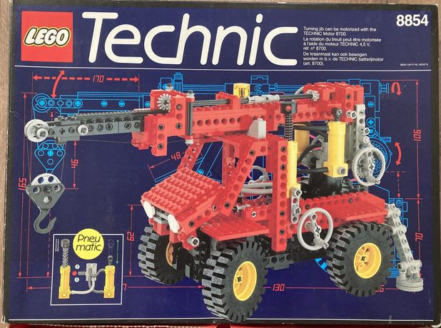 Lego technic 8854 Power Crane zestaw z 1989 r.
