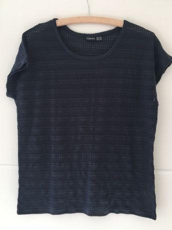 T-shirt granatowy esmara