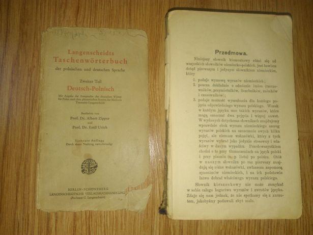 Słownik kieszonkowy niemiecko-polski 1919