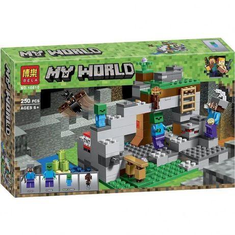 Конструктор Bela 10810 Minecraft Майнкрафт Пещера зомби 250 деталей