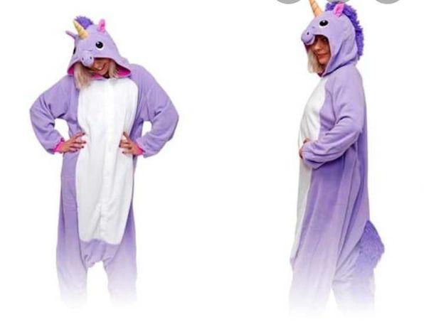Kigurumi piżama jednorożec kostium fioletowy