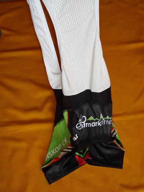 spodenki rowerowe Kalas roz S-Super z szelami/ wkładka Coolmax