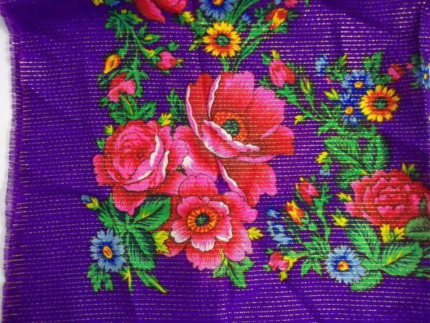 Винтаж Платок с принтом цветы